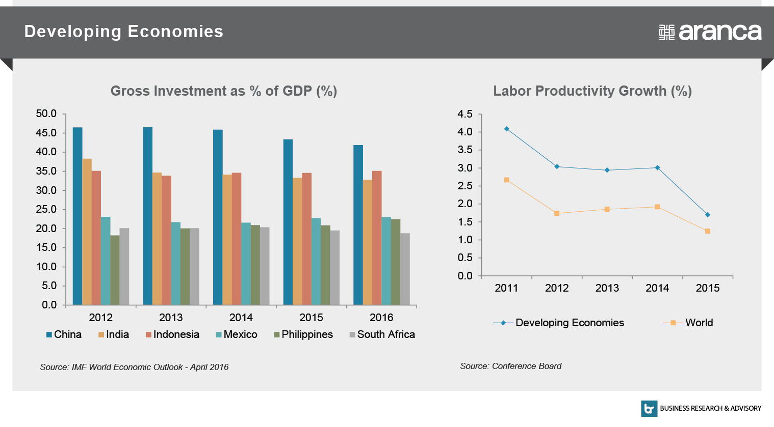Developing Economies - Gross Investment